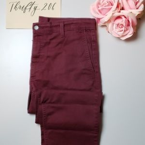 [Levi's] Maroon White Tab Jeans - 34x32